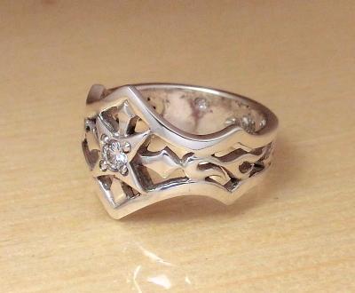 ダイヤモンドシルバーリング